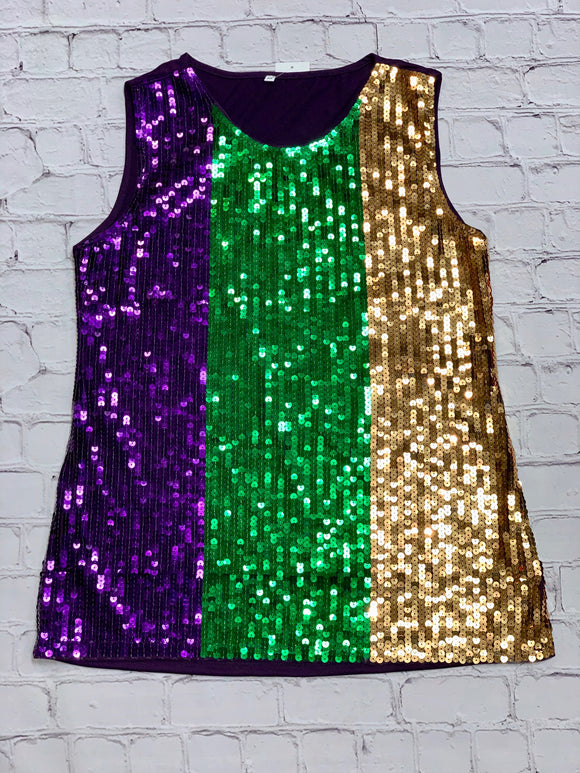 Apparel - Mardi Gras Sequin Shirt