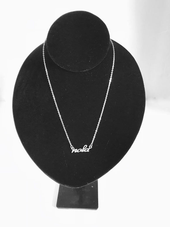 NOLA Script Necklace