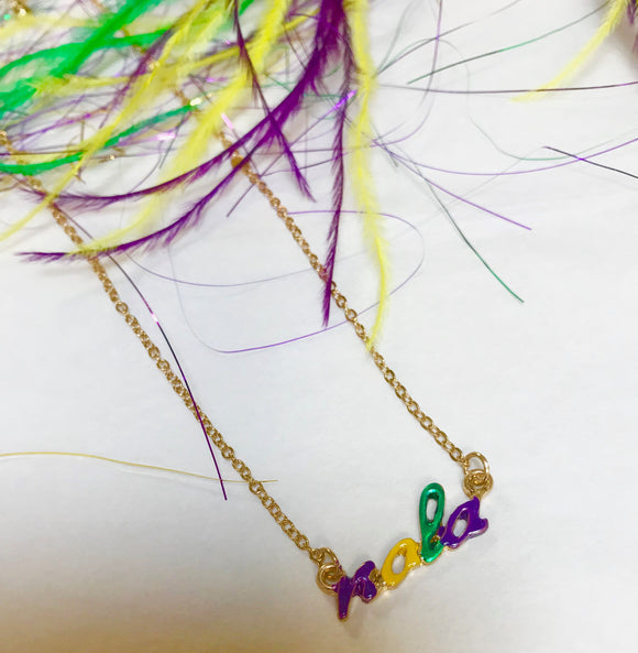 Mardi Gras NOLA Necklace
