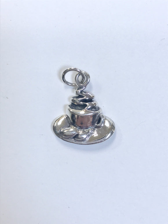 Jewelry-Coffee & Beignets Sterling Silver Charm