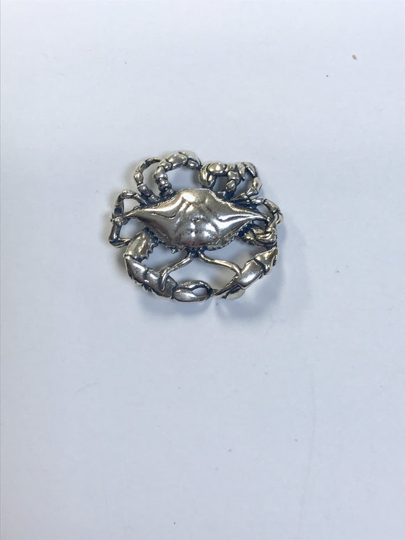 Jewelry-Crab - Large Sterling Silver Charm