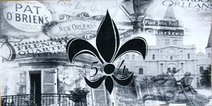 Accessories- NOLA Black FDL Beach Towel
