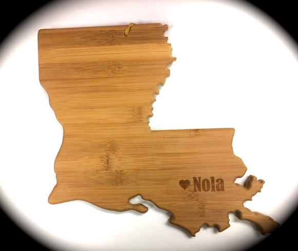 Louisiana Bamboo Cutting Board