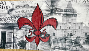 Accessories- NOLA Red Fleur de Lis Beach Towel