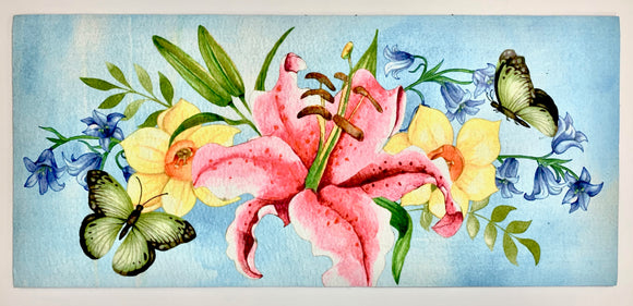 Door Mat - Lily & Butterfly Switch Mat Insert