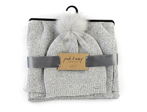 Accessories - Knit Pom Hat & Matching Scarf