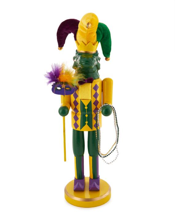 Mardi Gras-Alligator Nutcracker