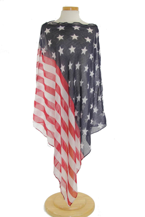 Apparel- Flag Poncho