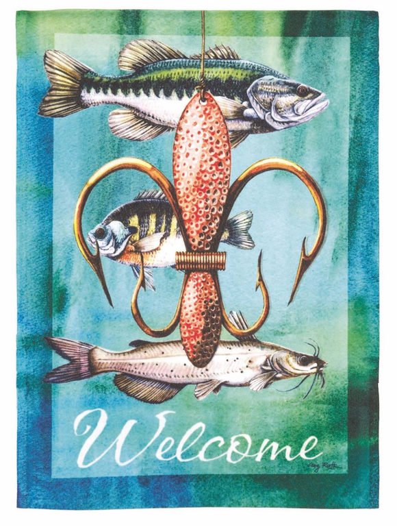 Flags - Fishing Welcome Garden Flag