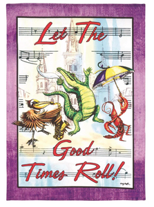 Flags - Let the Good Times Roll Garden Flag
