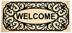 Door Mat - Welcome Burlap Switch Mat Insert