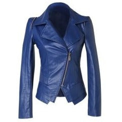 Womens Biker High Fashion Leather Jacket