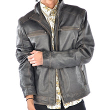 Mens Distressed Clayton Leather Jacket