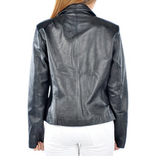 Womens Leather Blazer Ella