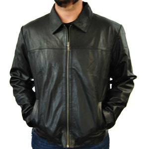 Clearance Mens Large Black Leather Jacket
