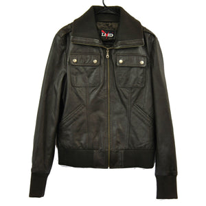 Clearance Womens XL Leather Bomber Jacket