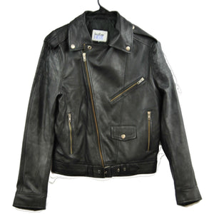 Clearance Mens 2XL Biker Leather Jacket