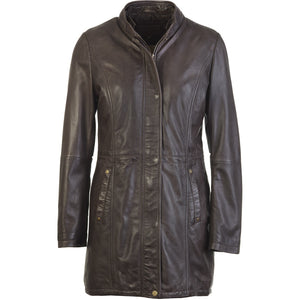 Womens Evening Leather Coat