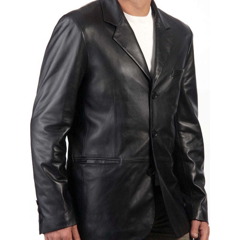 Mens Exec Leather Blazer