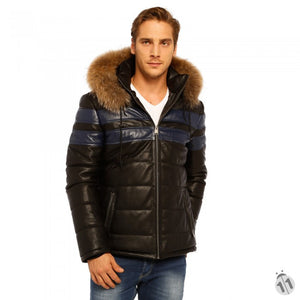 Mens Ski Leather Jacket