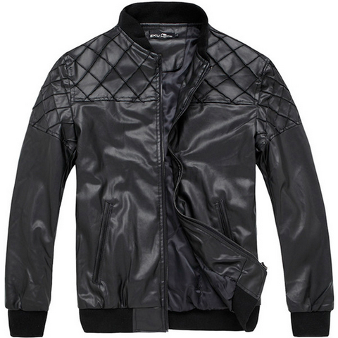 Mens Quilted Eric Leather Jacket