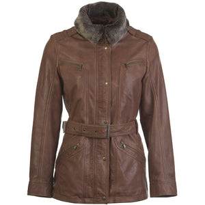 Womens Charlotte Leather Coat