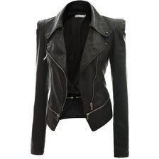 Womens Annette Leather Jacket