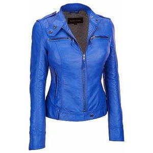 Womens Faya Leather Jacket