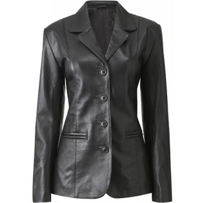 Womens Haena Leather Coat