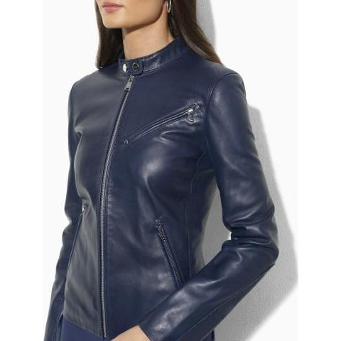 Womens Lenka Leather Jacket