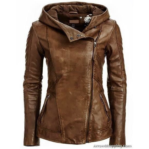 Womens Sasha Leather Jacket