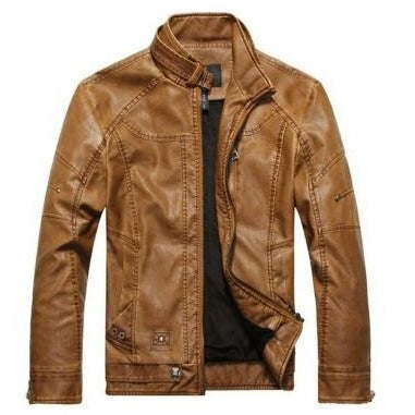 Mens Cambone Leather Jacket