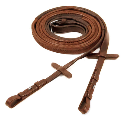 Schockemohle Rubber Reins With Hook & Stud (Pony)
