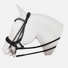 cayman,bridle, crystal browband, padded noseband, padded headstall, bridle, tota comfort systems