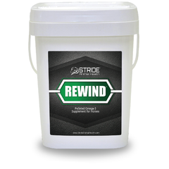 rewind pelleted omeg-3 supplement for horses, stride animal health