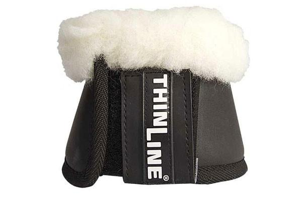 ThinLine Horse Bell Boot Sheepskin Trim Velcro