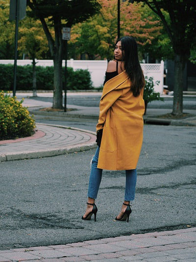 Neutral Canvas Zara Suede Coat