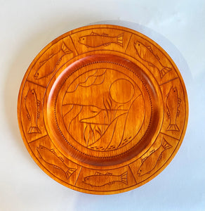 Carved Basswood Plate