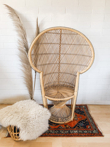 peacock chair rental high back classic