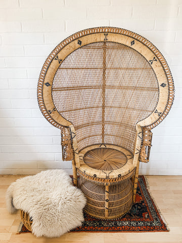 peacock chair rental extra large throne