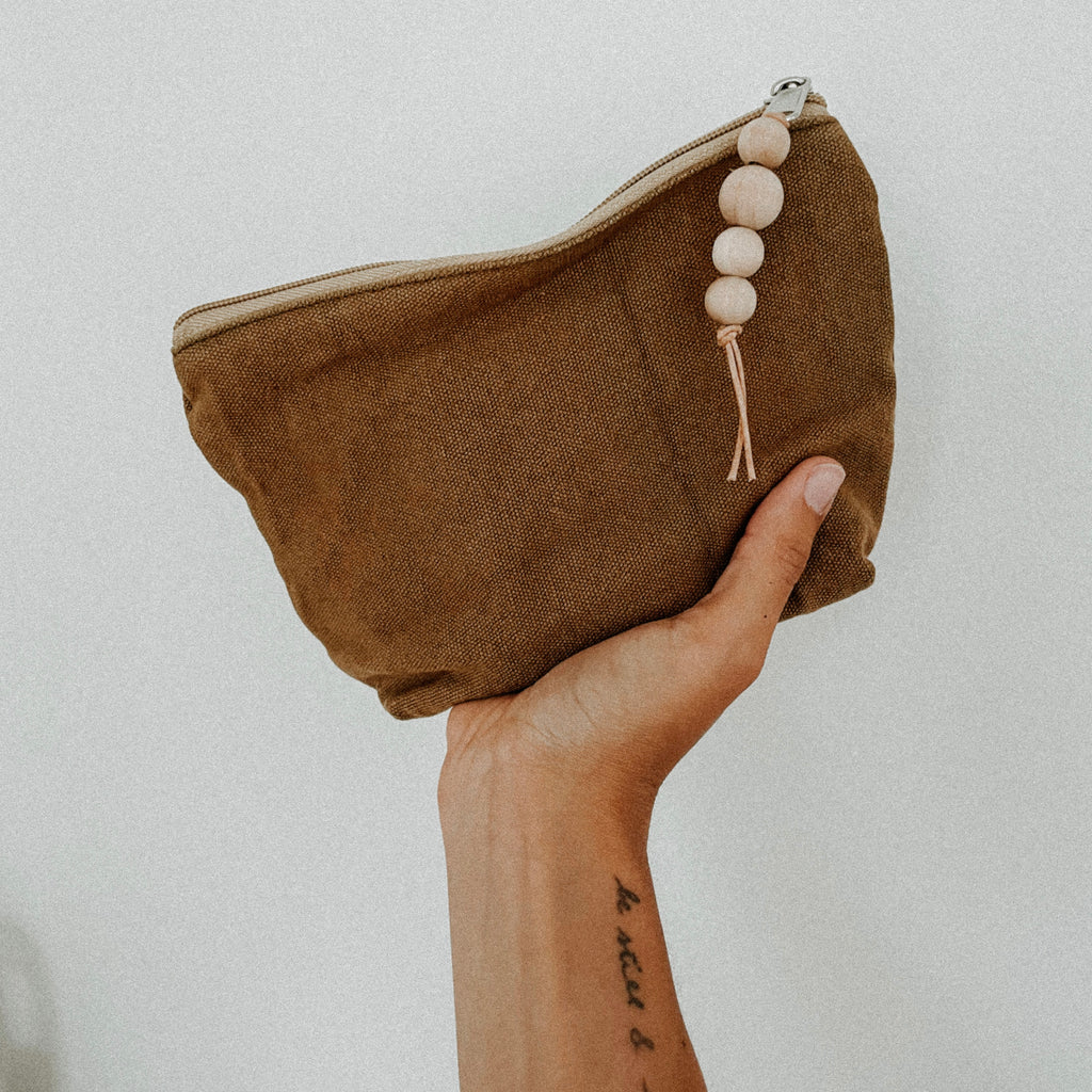 canvas zipper pouch / small