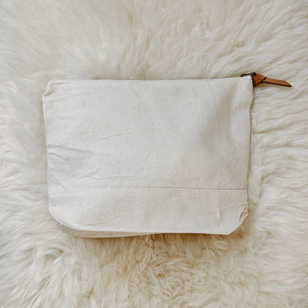 canvas zipper pouch / medium