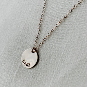 Goldie Necklace / Small Disc
