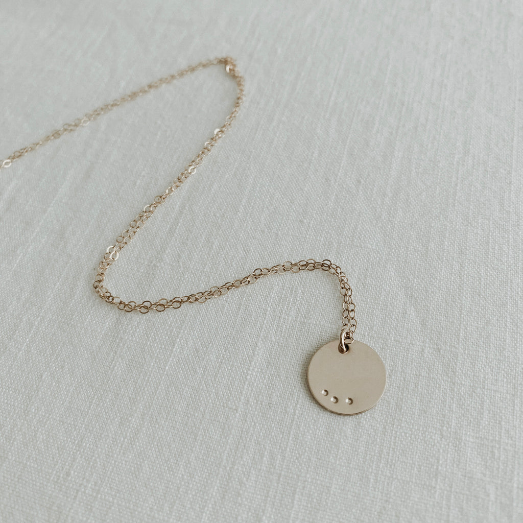 Goldie Necklace / Small Dot