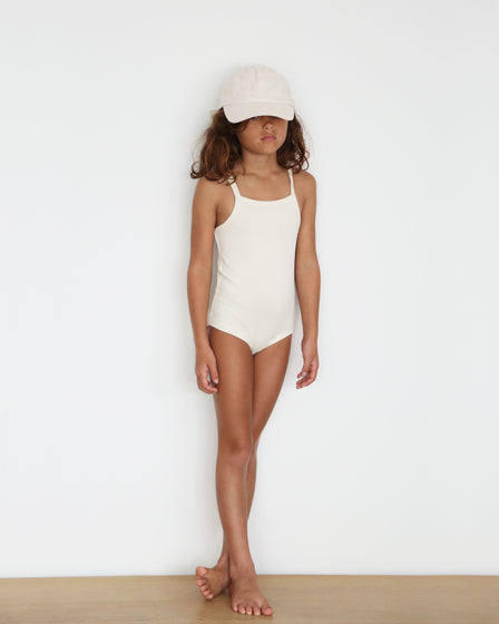 GIRLS COTTON SUNSUIT - NATURAL