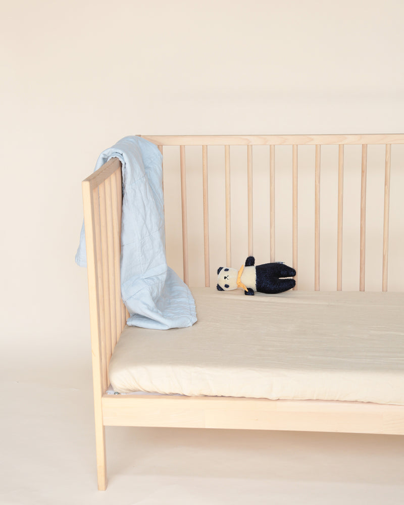 mini duvet/playmat - powder blue & sand