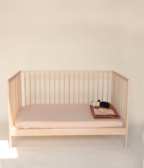 FITTED COT SHEET <BR> BISCUIT