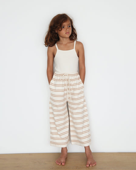 WIDE-LEG PANT - GINGER STRIPE