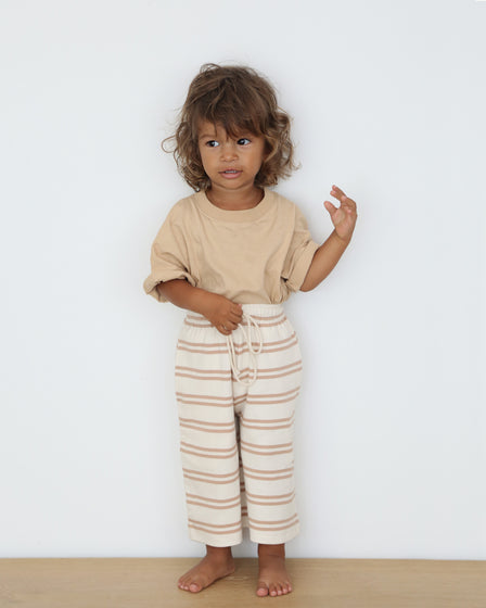 BABY WIDE-LEG PANT - GINGER STRIPE