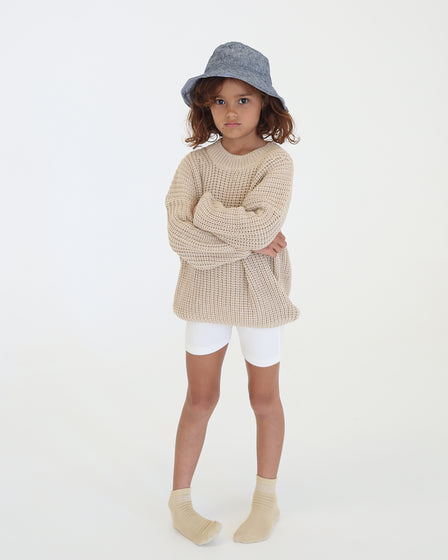 CHUNKY PULLOVER - NATURAL